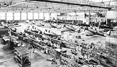 Chaine de montage des BT-9 en 1936
