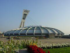 Stade olympique, dont la tour fut terminée après les Jeux Olympiques