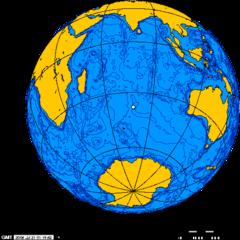 Situation des îles Crozet dans l'océan Indien