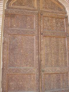 Porte en bois sculpté. Tachkent