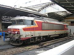 La BB 15014 en livrée TEE Arzens à Paris-Est (26/12/2005).