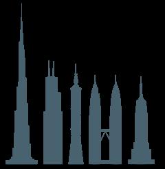 Comparaison entre les plus hauts gratte-ciels du monde.