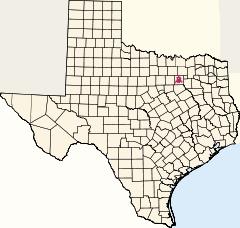 Localisation de Dallas