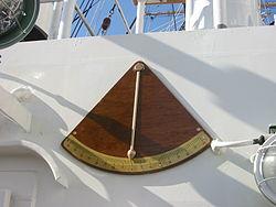 Inclinomètre extérieur sur un navire