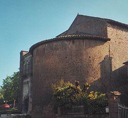 Abside semi-circulaire unique de l'église Saint-André d'Autun