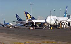 Des avions sur le tarmac d'Auckland