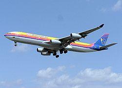 Un Airbus A340 affrété par Air Jamaica.