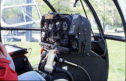 Commandes d'une Alouette III