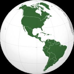 Carte de localisation de l'Amérique