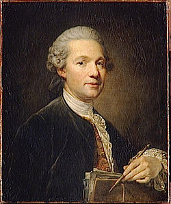 Ange Jacques Gabriel door Jean-Baptiste Greuze