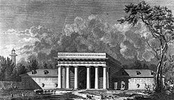 Saline royale d'Arc-et-Senans, pavillon d'entrée.