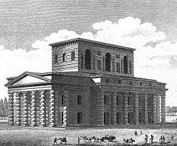 Saline royale d'Arc-et-Senans, projet pour le pavillon du directeur