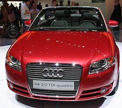 Une Audi A4 Cabriolet