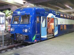Rame de banlieue à la  Gare Montparnasse