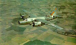 Bombardier B-26 en vol
