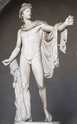 Apollon du Belvédère, copie romaine d'un original du IVesiècle av. J.-C. de Léocharès, musée Pio-Clementino