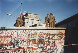 Le mur de Berlin, 1989.