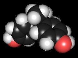 Structure du bisphénol A