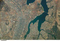 Vue satellitaire de Brasília