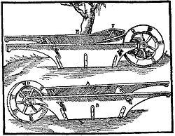 Modèle de brouette dont la caisse est suspendue aux brancards.