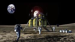 Dessin d'artiste d'un retour sur la Lune