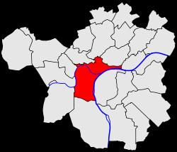 Localisation de la ville de Namur dans la commune