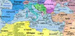 La mer Noire et la mer Méditerranée