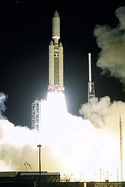 Lancement de la sonde Cassini-Huygens le 15 octobre 1997 � Cap Canaveral par la fus�e Titan-IVB/Centaur