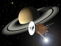 Autre vue d'artiste de Cassini-Huygens en orbite autour de Saturne