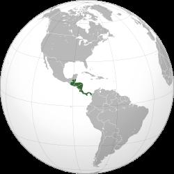 Carte de localisation de l'Amérique centrale