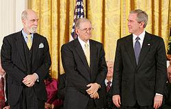 Vinton Cerf, Bob Kahn et George W. Bush