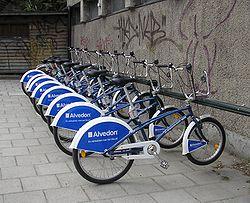Certaines villes (ici Stockholm) encouragent le développement du vélo pour des raisons de développement durable