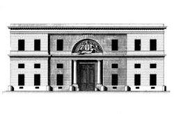 Hôtel d'Hallwyll, 1766. Élévation de la façade sur la rue Michel-le-Comte.