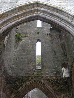 Vue int�rieur du clocher de Larchant
