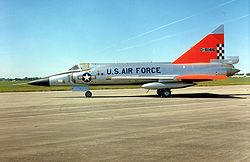 Un F-102A conservé au musée de l'USAF