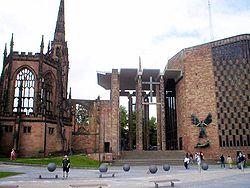 Les ruines de la cathédrale de Coventry