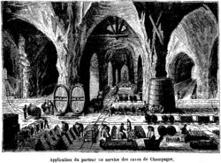 Application du chemin de fer Decauville aux caves de Champagne
