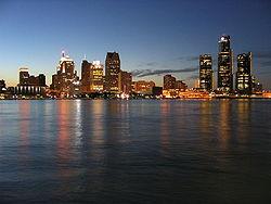 Vue générale de Détroit