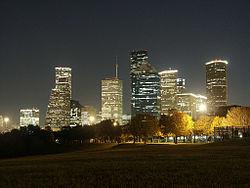 Vue générale de Houston