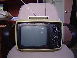 Un téléviseur portatif