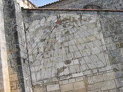 Cadran solaire de l'église de Saint-Georges-d'Oléron