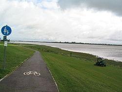 Une piste cyclable en Allemagne