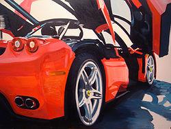 Ferrari Enzo (oil,2007) Painted by Tamás Kádár