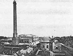 Première usine allemande d'incinération (Hamburg-Hammerbrook), ici, en 1895