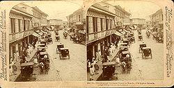 La rue commerciale principale, en 1899