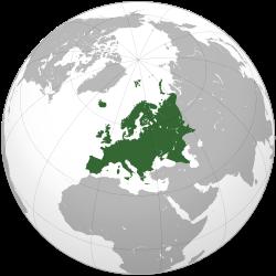 Localisation de l'Europe