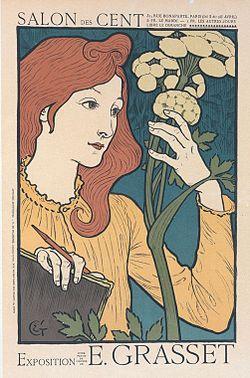 Observation d'un végétal (affiche d'Eugène Grasset)