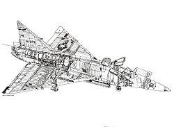 Ecorché du F-102A