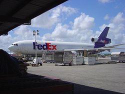 Un DC-10 utilisé par la compagnie FedEx