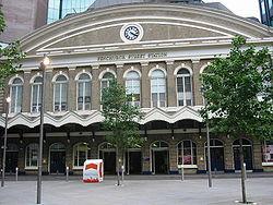La gare de Fenchurch Street d'où partent les trains de c2c